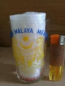 119 Gelas merdeka HIDOPLAH MALAYA MERDEKA glass