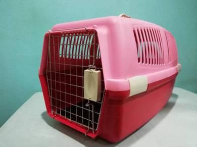 Pet Cat Flight Cage Carrier Sangkar Kucing 59x33cm