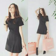 Minimalist Pleated Dress (KR073767)