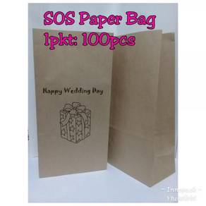 Sos paper bag 16 (brown)