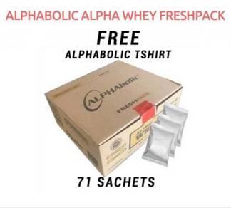 Alphabolic Alpha Whey Protein (71 Pack) Free Baju