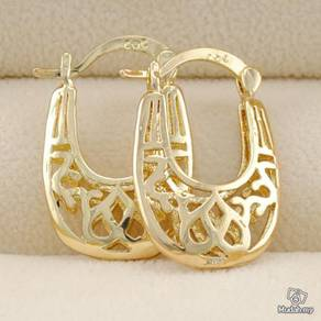 ABEGF-F001 18K Gold Filled Hollow Flower Earring