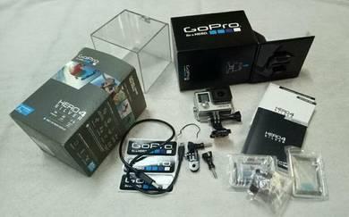 GoPro Hero4 Silver full set with box untuk dijual.