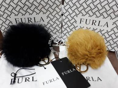 NEW Authentic Furla Fur Keycharm