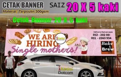 Kami Print Banner PVC Saiz 20X5 kaki