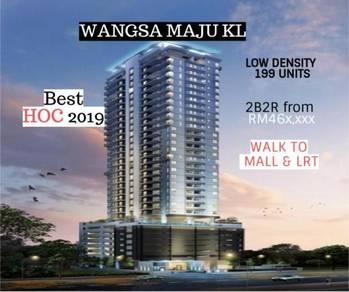 New Launch Premium Condo walk to Mall & LRT Station in Wangsa Maju, KL