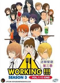 DVD ANIME Working Season 3 Vol.1-13End
