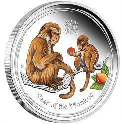 2016 monkey silver proof coloured editions