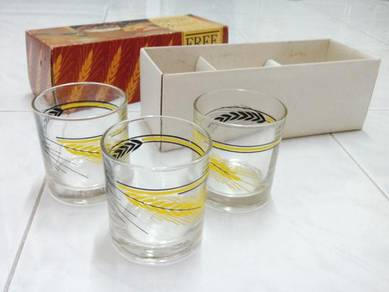 Vintage glass cup with box
