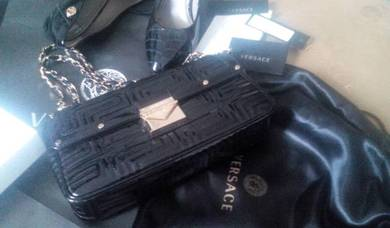 VERSACE GOLD Sling Bag Handbag Beg Tangan Leather