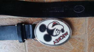 Tali Pinggang Leather Mickey Mouse