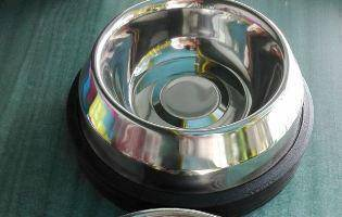 Stainless steel pet dish bowl ( large )