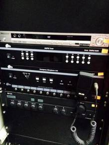 Audio system set capacities for 200 audios hall br