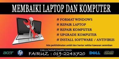 Membaiki Laptop dan Komputer