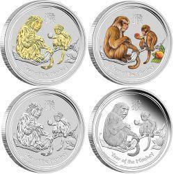 Lunar ii 2016 monkey silver typeset collection