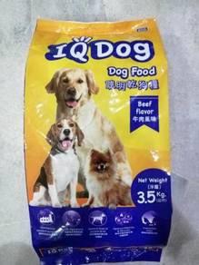 IQ Dog Beef Dog Food Makanan Anjing Daging 3.5kg