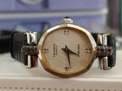 Vintage Technos swiss lady watch