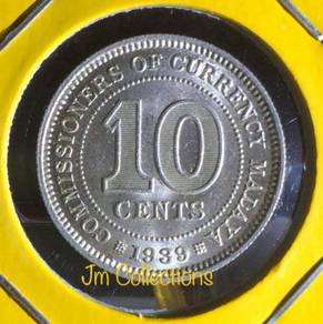 10 Cents MALAYA 1939 - 1 pcs -aUNC