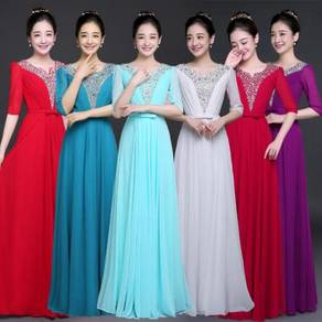 Long sleeve bridesmaid prom dress RBP0326