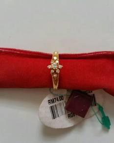 Gold plated ring / cincin emas saduran zhulian