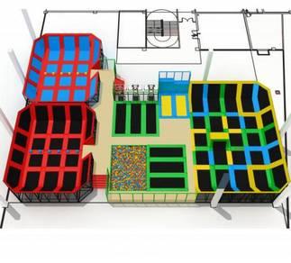 Commercial indoor trampoline park equipment