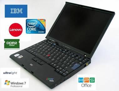 Lenovo ThinkPad X60 Core2Duo 2GB Win 7 1KG Laptop