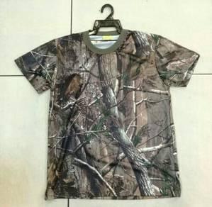 T-shirt corak real tree