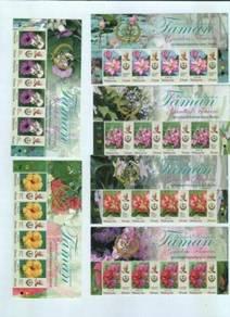 Mint Stamp X 4 Header Definitive Perak Msia 2016
