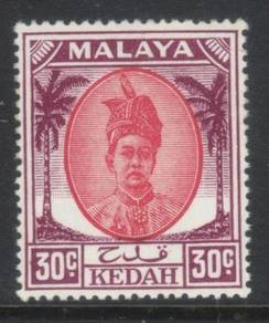 KEDAH 1950-1955 30c SG87 M/M CAT £6+ BK659