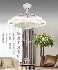 Fan with negative ions an led light