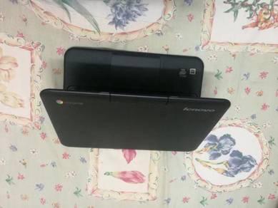 Lenovo Black Chrome 11 Inch Very Slim Notebook