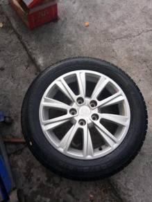 Proton preve original sport rim 16 inch exora tyre