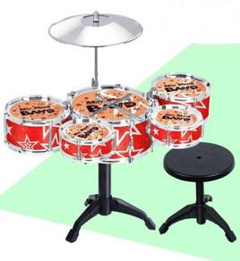 Kids' Jazz Drum Set with Stool