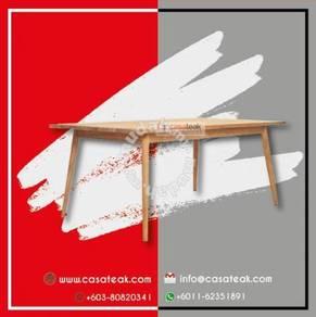 Meja makan kayu jati ber qualiti di Casateak