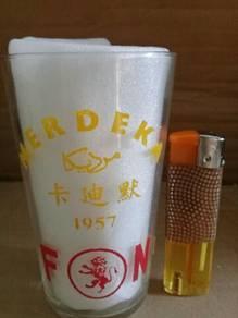 119 Antik gelas merdeka F&N; antique glass 1957