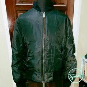 Bomber/ Flight Jacket Vtg Black Orange Riversible