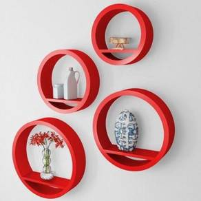 Floating round wall rack