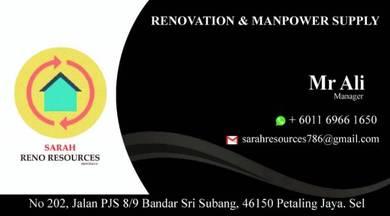 Renovation house, office, restaurant & factory