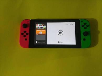 Nintendo Switch Neon Pink/Neon Green Handheld Syst