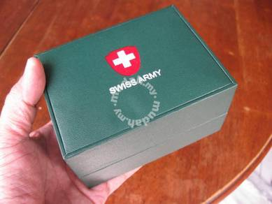 (B105) Pre Owned Green Swiss Army Watch Box