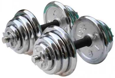 Chrome Dumbell GYM Barbell Set Bar Angkat Berat j7