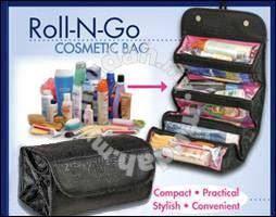 Roll n go ( travel cosmetic bag )