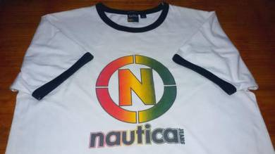 Authentic NAUTICA JEANS Big Logo SzL Ringer Shirts