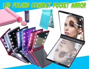 Led compact pocket mirror