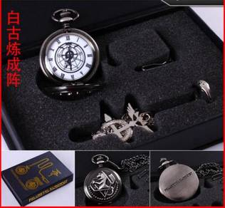 Fullmetal Alchemist Edward pocket watch Ring set