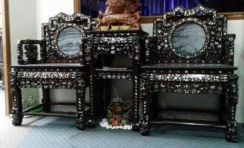 100year Chinese Rosewood Chair Mother InleadPearls