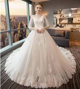 White long sleeve Wedding dress RB0897