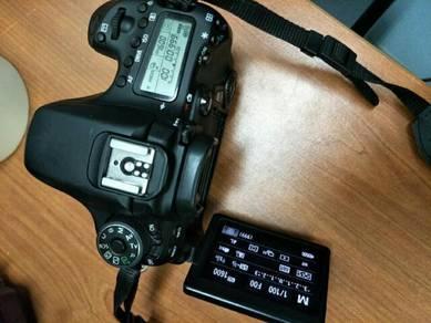 Canon 70d untuk dilepaskan. condition 9/10