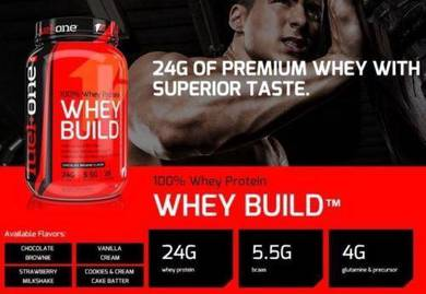 Fuelone 100% Whey Build Vanilla Protein gym fit