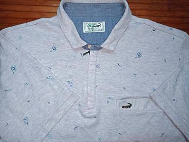 Authentic CROCODILE FULL PRINT POCKET SzL Shirts